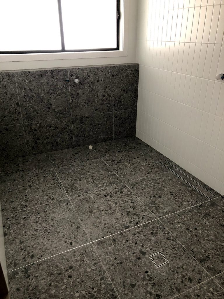 bathroom grouted