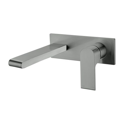 Bianca Wall Basin Mixer - Gunmetal Grey