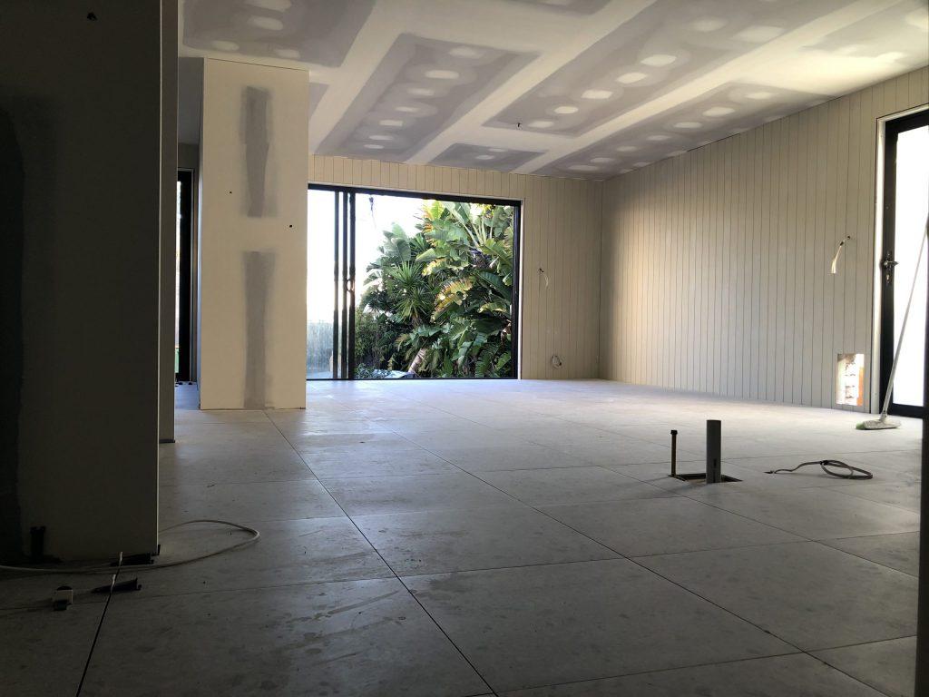 tiles over timber floorboards finished