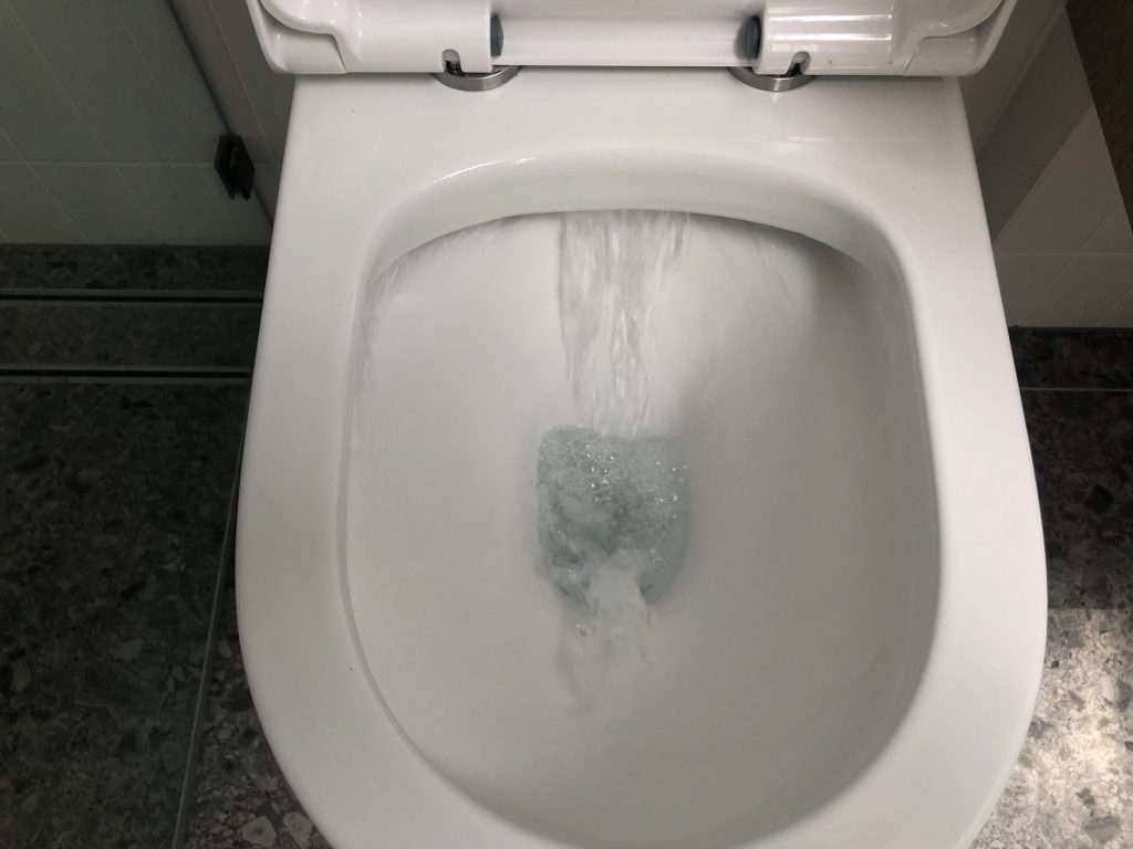 rimless toilet flush