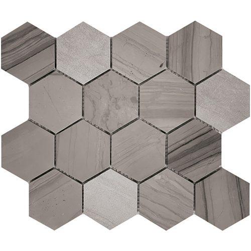 Tuscany Athens Grey 75mm Hexagon