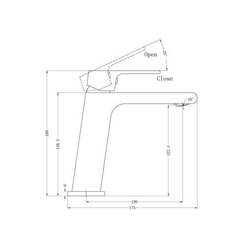 Bianca Basin Mixer Gun Metal Grey