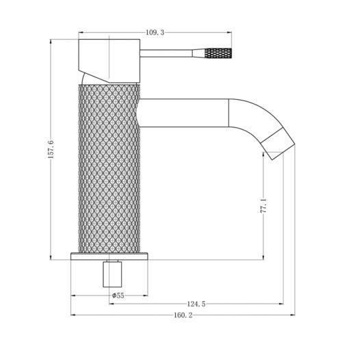 Opal Basin Mixer Graphite