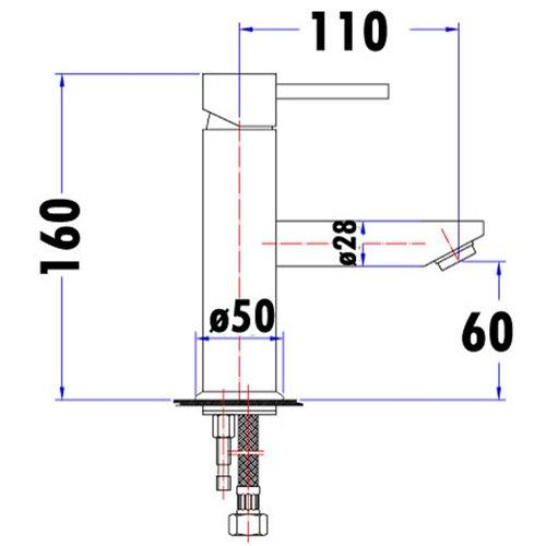 Opus Pin Lever Basin Mixer