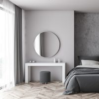Brooklyn Round Mirror Brushed Stainless Steel